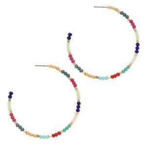 Colorful Seed Bead Hoop, NWT